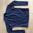 ラッシュガード  長袖  120サイズ   黒   中古