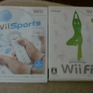 Wiiソフト Wiiスポーツ WiiFit(ソフトのみ) あげます。