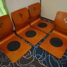 木製 曲げ木座椅子 ブラウン 4脚セット