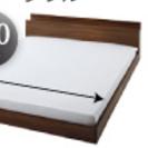 キングサイズベッドフレーム(180cm(横)x220cm(縦))+...