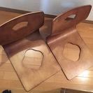 木製 和座椅子 座椅子 2脚