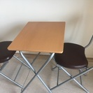 折りたたみ式 机と椅子セット