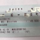 JR切符(大船⇄御徒町)回数券1枚