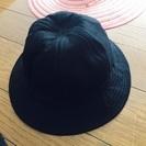 黒 綿の帽子300円