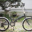 折りたたみ自転車(20インチ、外装6段変速)