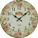 アンティーク ウォール クロック ローズ ピンクインテリア時計