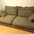 布張りソファー