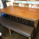 6人掛けのダイニングテーブル!ベンチシート!使用年数1年