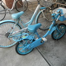 子供用自転車2台、女の子用
