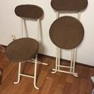折りたたみ椅子2脚