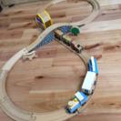 木のレールと汽車セット