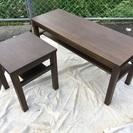 💕可愛い😍無印良品 タモ材 椅子にもテーブルにもできる。大小セット