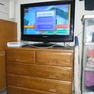 テレビ台をローチェストにして省スペースを実現 液晶TVとチェストのセット