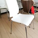 白色 椅子 4脚