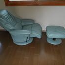 レザー張 リクライニングソファー
