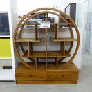 オシャレな円形飾り棚 シェルフ W...