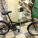 [4580]折りたたみ自転車 20インチ 外装6段変速 ブラック