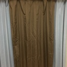 カーテン 未使用品‼️100×180 2枚 未遮光の為、透け感あり。