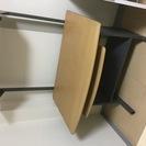 パソコンラック 頑丈で上部天板は高さ調整可能です。