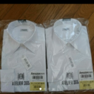 白 無地 ワイシャツ メンズ S  長袖 2枚セット
