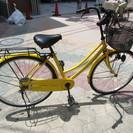 【整備済】26インチ 前後タイヤ新品 自転車 イエロー