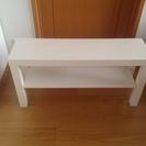 真っ白な IKEA のテレビ台を 700円 でお譲り致します