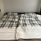 (コンセント付きベッド+マットレス+寝具一式)×2