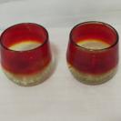琉球ガラス 赤ペアグラス