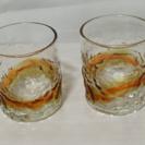 琉球ガラス ペアグラス(オレンジ)