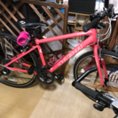 新古車 クロスバイク ルイガノ シャッセ 美品  ピンク 自転車