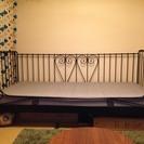 IKEA レトロ風シングルベッド(フレーム+すのこ+マットレス)