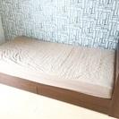 ニトリ 収納付き木製ベッドフレーム&スプリングマット(マットレス専...