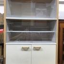 木製 食器棚 幅59.5cm×奥行29.5cm×高さ89cm 昭和レトロ