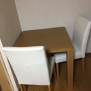 無料 (あげます )ダイニングテーブル椅子二脚付