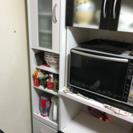 白の細長い食器棚!幅33cm!隙間家具