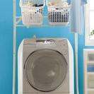 ニトリ ランドリーラック/洗濯機棚+カゴ2個