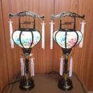 盆提灯 1対 ミニ提灯 回転灯 小型行灯 お盆