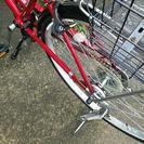 26インチ 外装6段変速 赤い自転...