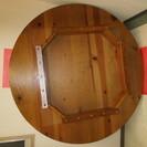 【木製-大型円卓・テーブル】座のミーティング~ちゃぶ台迄・多目的に...
