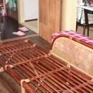 あげます!アジアン風藤製のインテリア長椅子