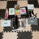 ※特別値下げ※【Wii本体+カセット4本+wii fit plus...