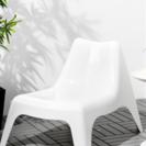 イケア IKEA イージーチェア 白 ホワイト