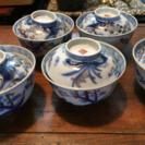 昔の蓋茶碗 5客