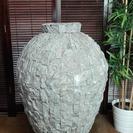 百貨店にて30万で購入 高さ95㎝大きな石製 花瓶