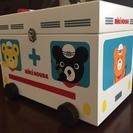 【美品】ミキハウス ノベルティ 木製 救急箱  収納箱