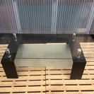 [スタイリッシュなガラステーブル]⁑リサイクルショップヘルプ