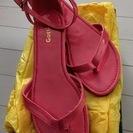 ピンクのサンダル サイズ L