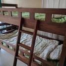 耐荷重500kg 耐震  二段ベッド 2段ベッド  宮付き コンセ...