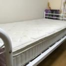 【値下げ】シングルパイプベッド+25cmマットレス『ニトリ』