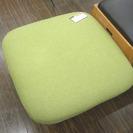 札幌 引き取り スツール/オットマン 黄緑色 布張り 格安で